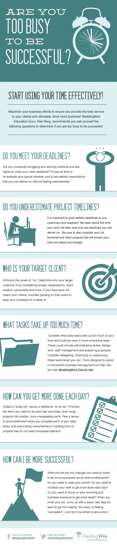 Are You Too Busy To Be Successful [infographic]